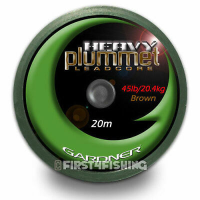 Gardner Tackle Heavy Plummet Leadcore Leader - Carp Barbel Catfish Fishing Line