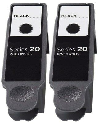 Dell SERIES 20 High Yield Black Ink Dell P703w P703 2PK