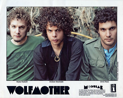 Wolfmother Press Kit, Color Photos 8x10 Press Clippings