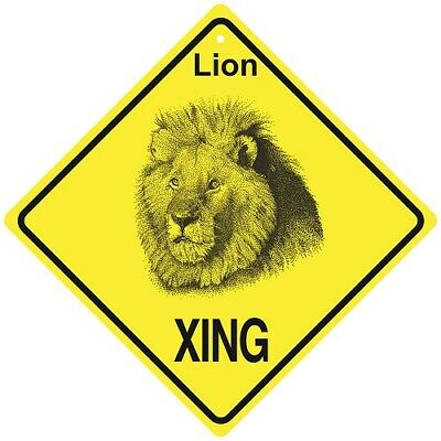 Lion Crossing Xing Sign New