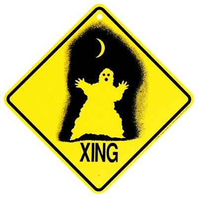 Ghost Crossing Xing Sign New