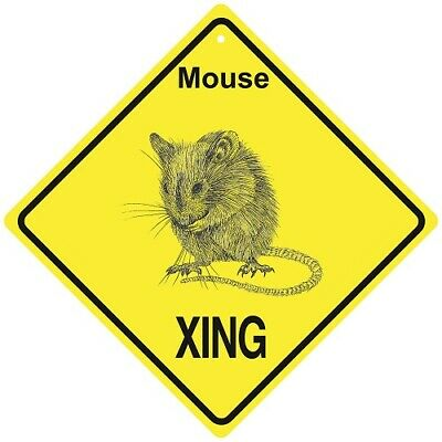 Mouse Crossing Xing Sign New