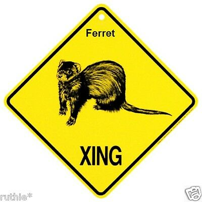 Ferret Crossing Xing Sign New