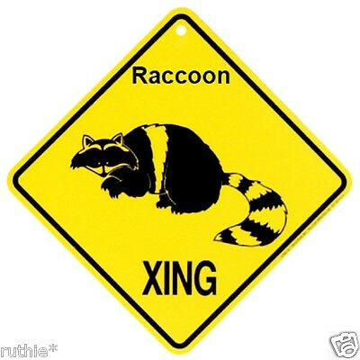 Raccoon Crossing Xing Sign New