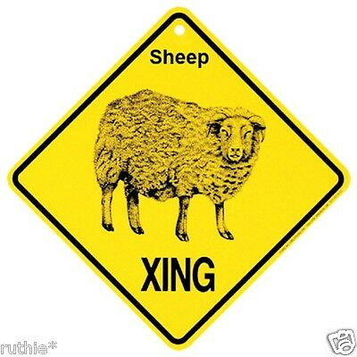 Sheep Crossing Xing Sign New