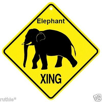Elephant Crossing Xing Sign New