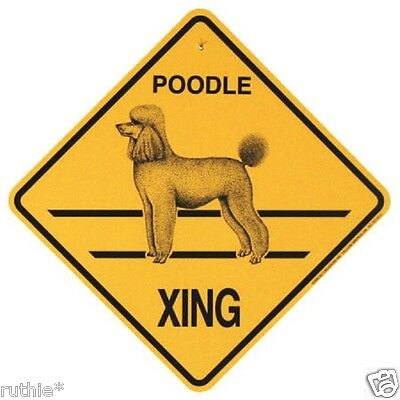 Poodle Dog Crossing Xing Sign New