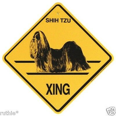 Shih Tzu Dog Crossing Xing Sign New