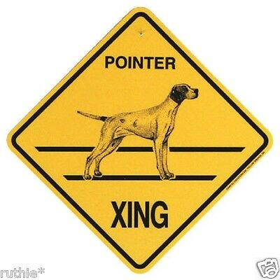 Pointer Dog Crossing Xing Sign New