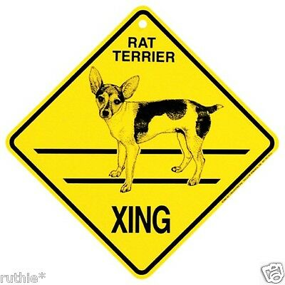 Rat Terrier Dog Crossing Xing Sign New
