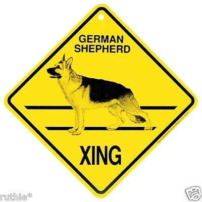 German Shepherd Dog Crossing Xing Sign New