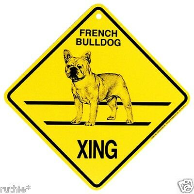 French Bulldog Dog Crossing Xing Sign New