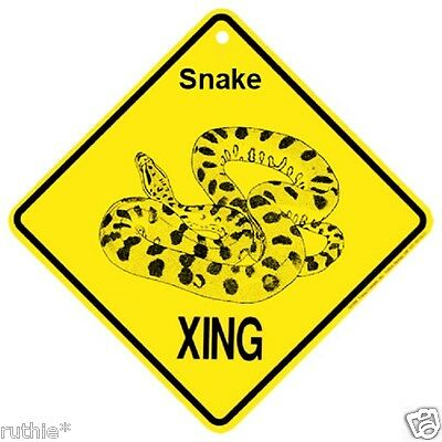 Snake Crossing Xing Sign New