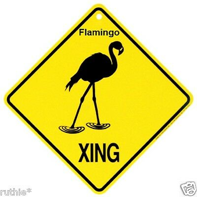 Flamingo Crossing Xing Sign New