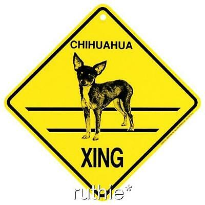 Chihuahua Dog Crossing Xing Sign New