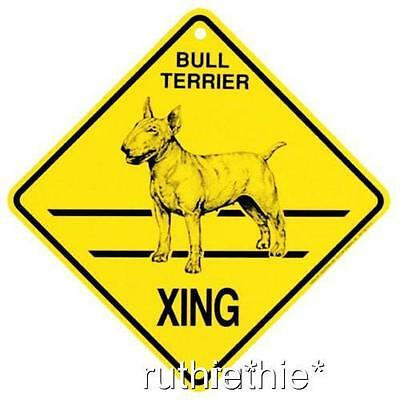 Bull Terrier Dog Crossing Xing Sign New Made in USA