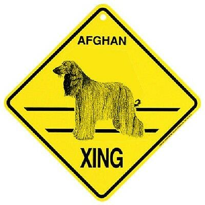Afghan Dog Crossing Xing Sign New Made in USA