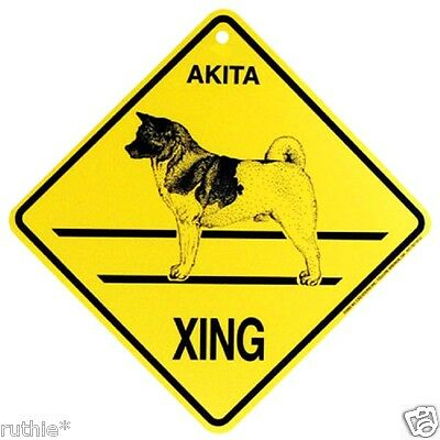 Akita Dog Crossing Xing Sign New Made in USA
