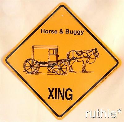Horse and Closed Buggy Crossing Xing Sign New Made in USA
