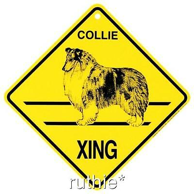 Collie Dog Crossing Xing Sign New MADE IN USA
