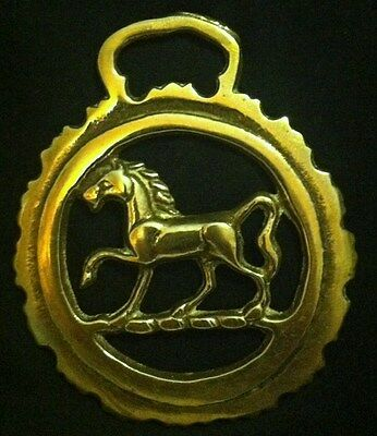 Vintage TROTTING HORSE JAGGED FRAME Horse Harness BRASS ENGLAND Wow Your Walls!