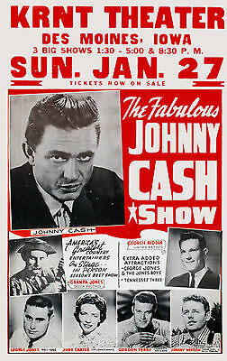"Johnny Cash Concert Poster - 10""x16"" Photo"