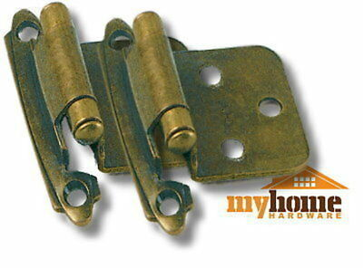 Cabinet Door Flush Hinges Antique Brass 50 pairs Hinge