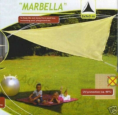 Parasol toile protection ombrelle solaire 3x3x3 jardin - Toile triangle jardin ...