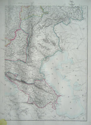 RUSSIA in EUROPE South East Map DISPATCH ATLAS 1860