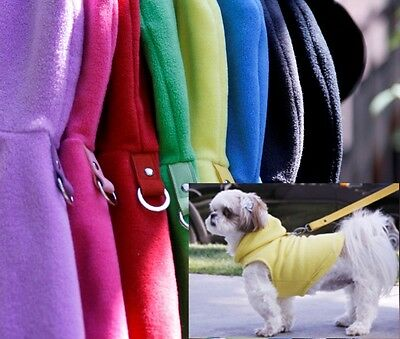 Gooby Dog Hoodie Harness - All Sizes Small & Med Breeds - Fleece Pullover Hoody