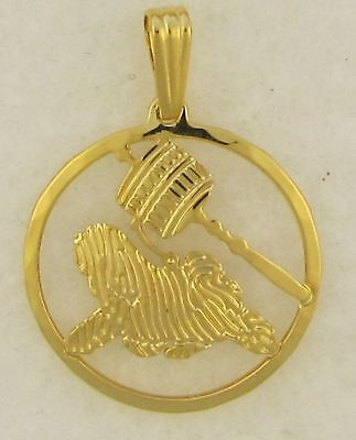 Tibetan Terrierl Jewelry Gold Pendant by Touchstone