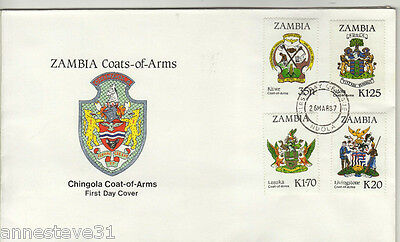 Lovely Fdc From Zambia 1987 From Zambia 'coats Of Arms