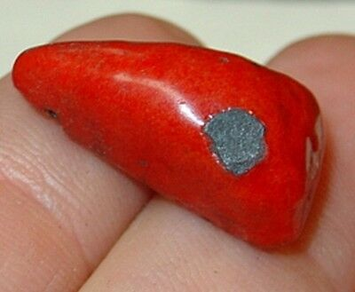 Antique Red Triangle Kiffa African Powder Glass Beads Mauritania, African Trade