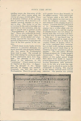 1901 Connecticut Valley Music vintage article