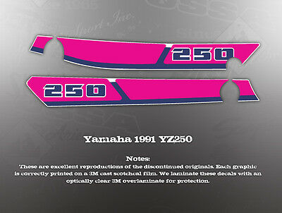 Yamaha 1991 Yz250 Fender Side Cover Graphics Decals