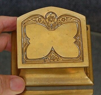 Antique French Art Nouveau Gilded Bronze Stamp Holder