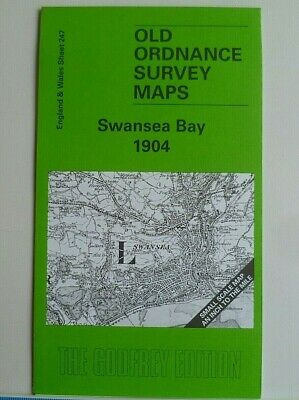 OLD ORDNANCE SURVEY MAP SWANSEA BAY & Penclawdd 1904 Sheet 247 & Extract 22.04
