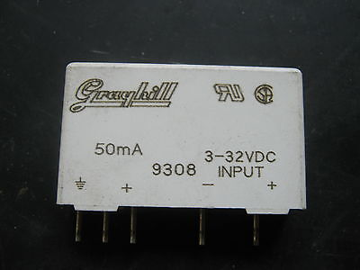 GRAYHILL SOLID STATE RELAY 50mA 3-32VDC INPUT 9308