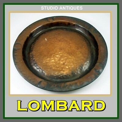 Vintage LOMBARD Hammered WALL PLAQUE Copper ARTS CRAFTS