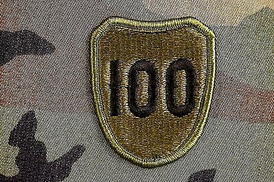 Authentic RARE US Army 100th Infantry Division Military BDU Patch Subdued