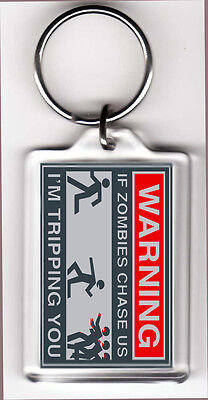 Funny Keychain If Zombies Chase Us Im Tripping You
