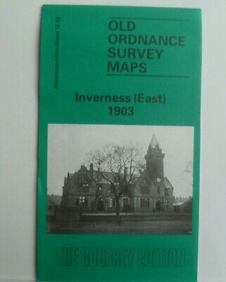 Old Ordnance Survey Maps Inverness East Scotland 1903 Godfrey Edition New