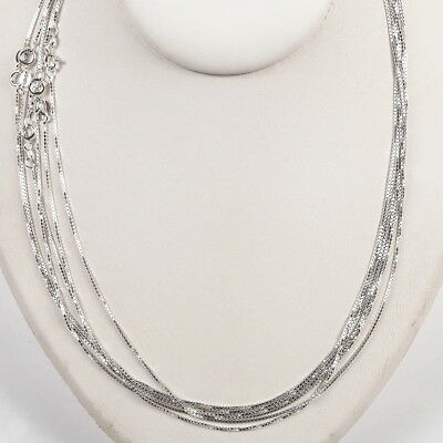 5 Sterling SILVER 925 medium thick BOX 019 CHAINS 21""