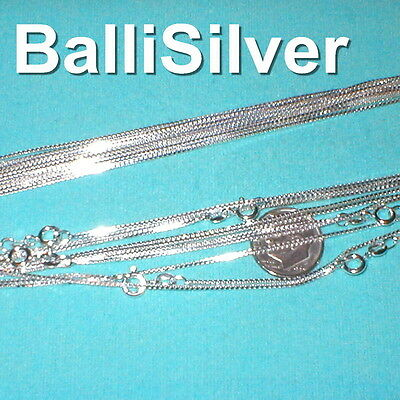 10 Sterling SILVER 925 medium thick BOX 019 CHAINS 21""