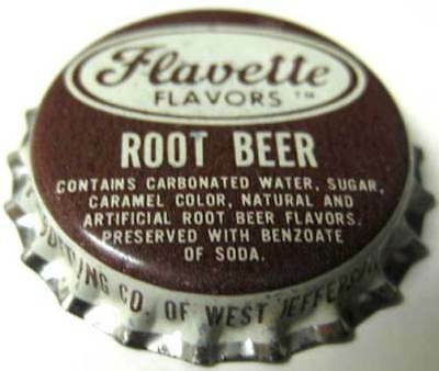 FLAVETTE ROOT BEER Soda CROWN Dr Pepper, NORTH CAROLINA