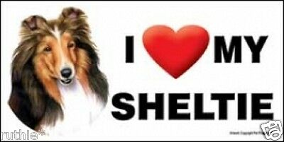 I (Heart) MY SHELTIE Magnet LOVE  Made in USA