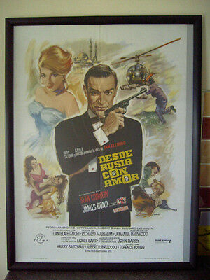 From Russia With Love Original 007 Cinema Movie Poster 1974 James Bond Rare
