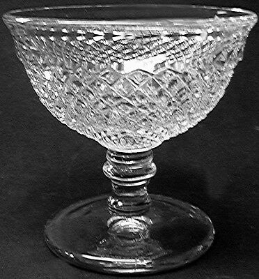 Vintage Westmoreland Glass Clear Crystal English Hobnail Low Sherbet   (s)