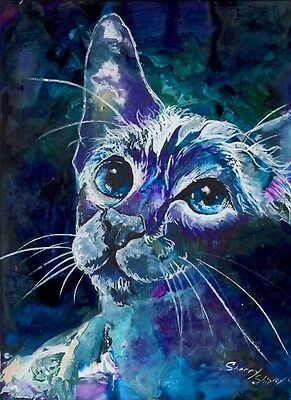 ANTICIPATION 8x10  CAT Art Print by Sherry Shipley