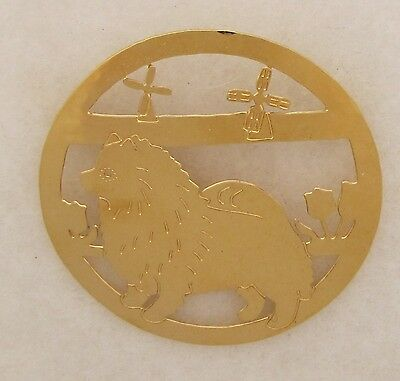 Keeshond Jewelry Large Gold Pin by Touchstone